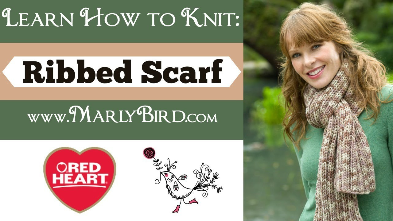 Learn How to Knit Ribbed Scarf