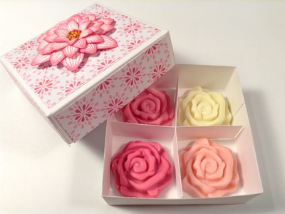 Making paper boxes for guest soaps