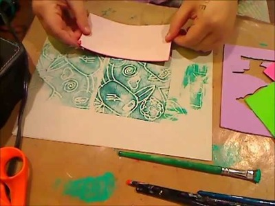 MAKING STAMPS AND STENCILS FROM KIDS FOAM