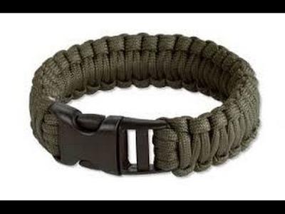 MAN VS DIY: Square Knot Survival Bracelet