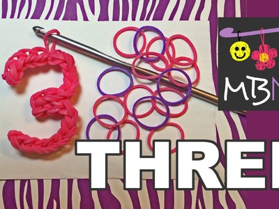 Number Three #3 Charm Without the Rainbow Loom Tutorial