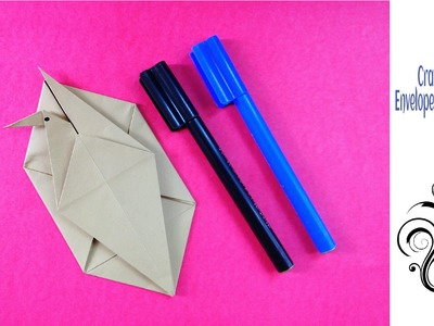 "Origami Paper ""Crane Letter. Envelope "" with secret message - A4 sheet !"