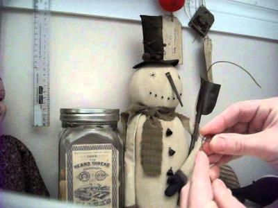 PART 2: Making Primitive Christmas Dolls-