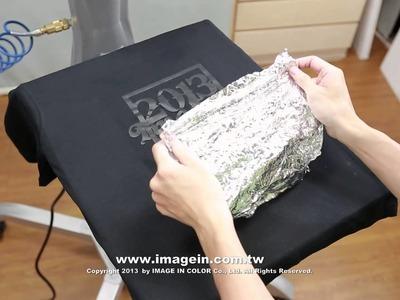 Self Weeding Transfer Paper for OKI White Toner Printer (White fabric + Stamping Foil)