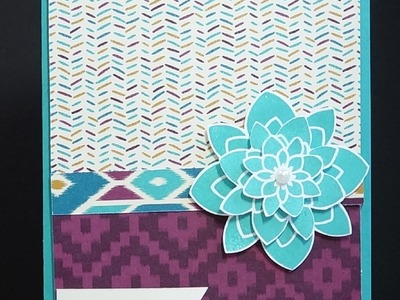 Stampin' Up! Bohemian Paper and a Layered Flower
