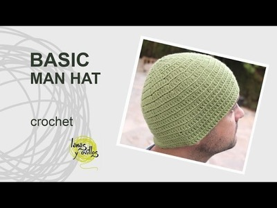 Tutorial Basic Crochet Man Hat in English