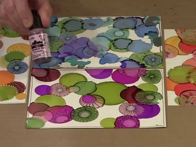 Alcohol Ink On Yupo Paper - Drops! by Joggles.com