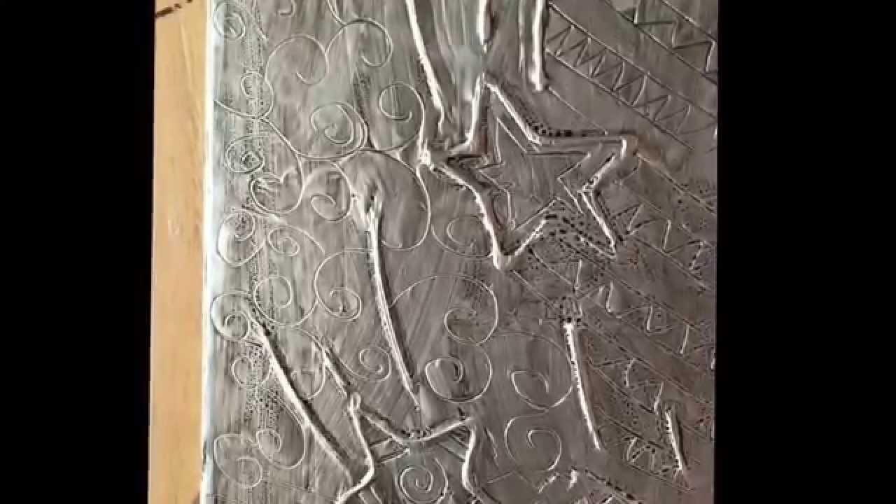 Aluminum foil raised art