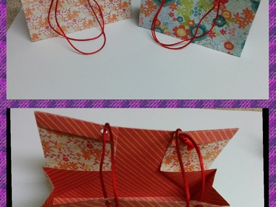 Art and Craft: How to make gift bag.box
