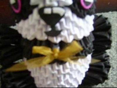 Attempt at jaxsters 3d origami panda