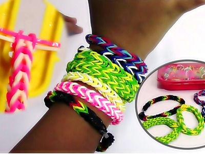 Cra-Z-Loom Bands Bracelets - My First Fishtail Loom Bracelets