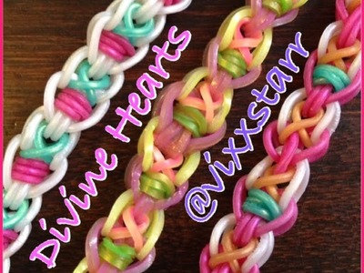 """Divine Hearts"" Bracelet! Hook Only Tutorial (Rainbow Loom)"