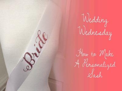DIY Bride-to-be Sash