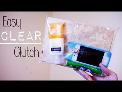 DIY ✂ Clear Clutch (Easy)