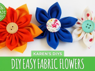 DIY Easy Fabric Flowers - HGTV Handmade