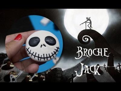 DIY JACK SKELLINGTON Brooch Nightmare Before Christmas Polymer Clay Tutorial