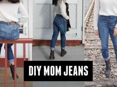 DIY mom jeans