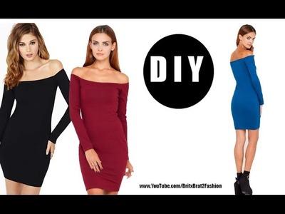 DIY Off The Shoulder Dress