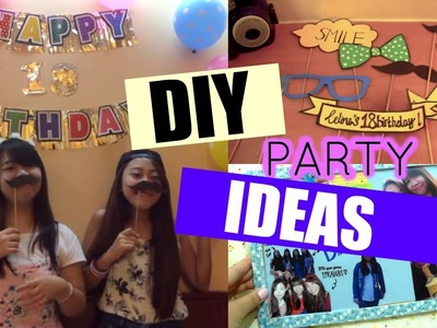 DIY Party Gift and Selfie Booth props