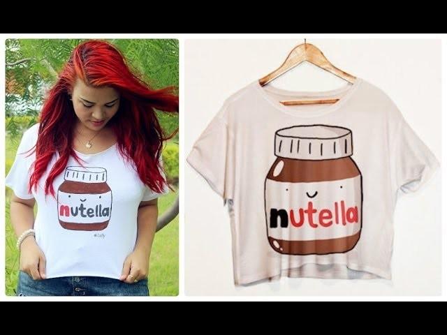 DIY: T-shirt com estampa de Nutella