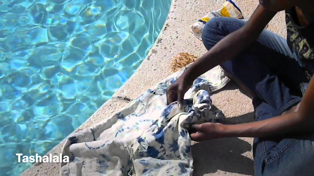 DIY Tie Dye Jeans! Dying Over Acid Wash!