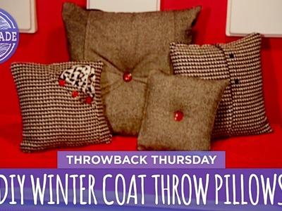 DIY Winter Coat Throw Pillows - Throwback Thursday - HGTV Handmade