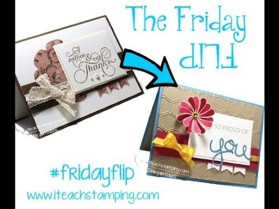 Friday Flip:  Using Stampin' Up!'s Crazy About You Bundle on a Handmade Card