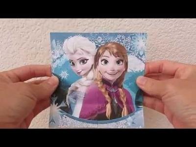 Frozen Elsa and Anna Flip Card Paper Craft