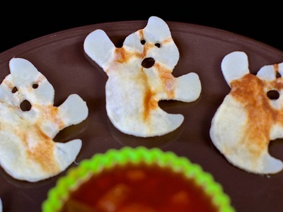 Halloween Ghost Potato Crisps - Easy DIY Vegan Treats!