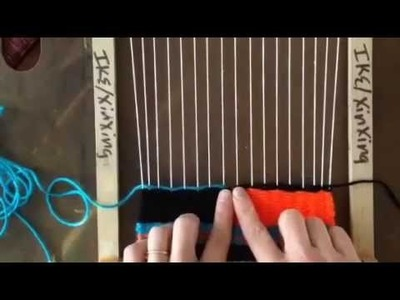 How to create a slit in tapestry weaving.