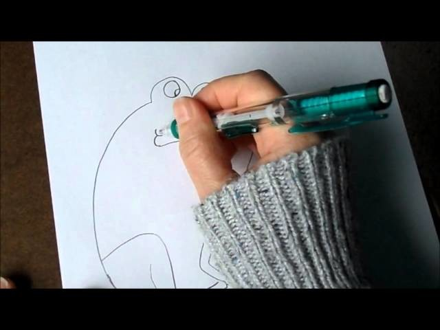 How to draw a frog with the number 7.