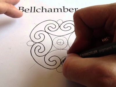 How to Draw Celtic Patterns 97 - Spiral Celtic Cross.Mandala 5of8