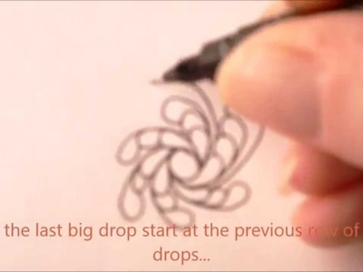 How to draw tanglepattern Showgirl