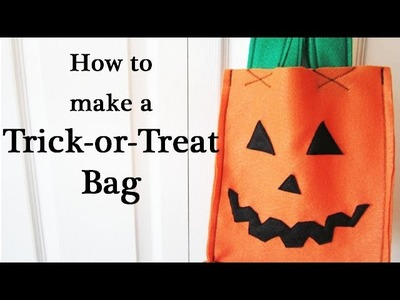 How to EASILY Make a Trick-or-Treat Candy Bag