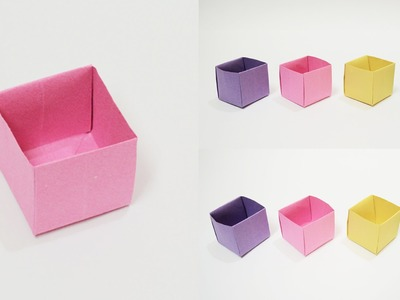 How to make a Paper Box (Easy) Origami Box