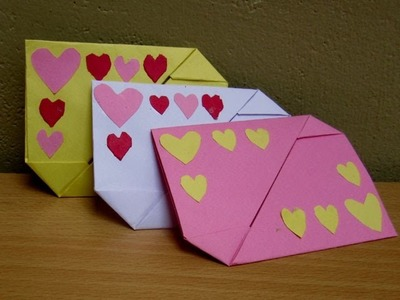 How to Make a Paper Valentine's Day Gift Cover Envelope - Easy Tutorials