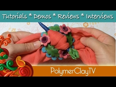 How to make a pretty scarf or hair pin from polymer clay