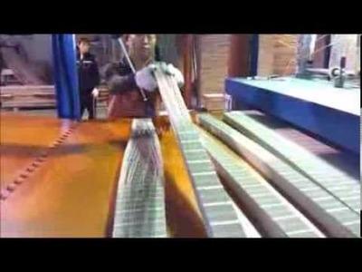 How to make paper honeycomb core stick (tantan)