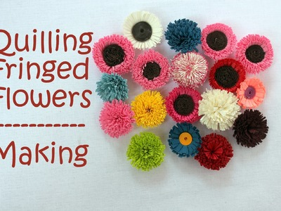 How to make Quilling Fringed Flowers - 2 Designs