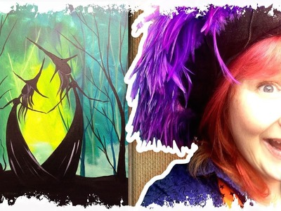 How to paint   Adorable Witch Sisters in the Woods   #lovefallart #painting