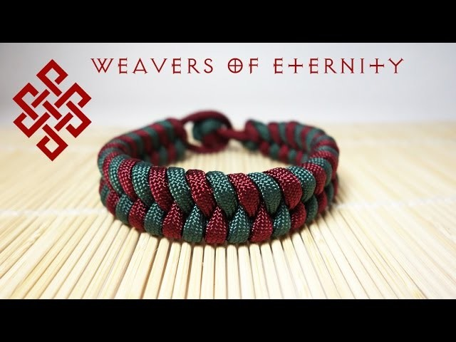 How To Tie a Fishtail Paracord Bracelet with NO BUCKLES