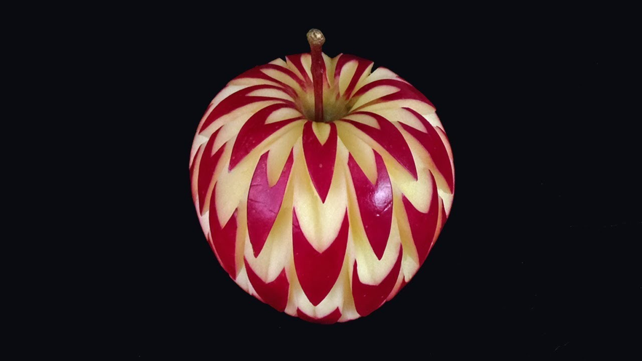 July Apple Flower Style - Intermediate Lesson 15 By Mutita Thai Art Of Fruit And Vegetable Carving