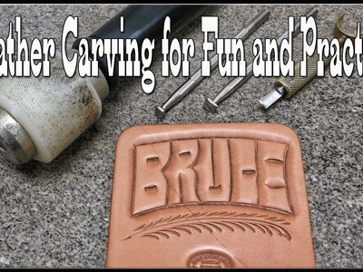 Leather Carving Designs for Fun and Practice - Leathercraft Tutorial - Bruce - Craft Ideas