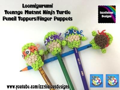 Loomigurumi Teenage Mutant Ninja Turtle Pencil Topper - amigurumi with Rainbow Loom Bands