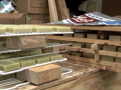 Making Homemade Soap - Cutting to Size 2. 2 w. Earthway Experience