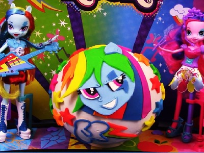 MY LITTLE PONY Giant Play Doh Surprise RAINBOW DASH - Surprise Egg and Toy Collector SETC