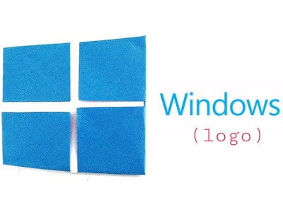"Origami Paper - ""Windows 10 logo"" - Very easy, Anyone can make!"