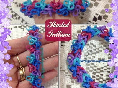 Painted Trillium bracelet tutorial (hook only) YOU MUST WATCH MY TRILLIUM FLOWER TUTORIAL FIRST!