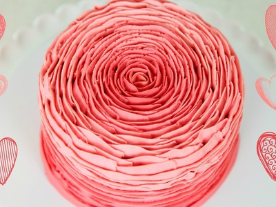 Pretty Buttercream Rose Cake Decorating - CAKE STYLE
