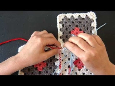 Purl Soho's Sewing Crocheted Granny Squares Together